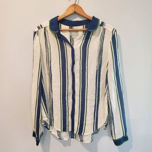 Anthro | Maeve striped button down